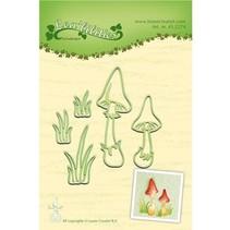 Stanz- und Prägeschablone: Pilze