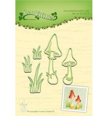 Leane Creatief - Lea'bilities Punching and embossing template: Mushrooms