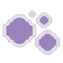 Punzonatura e modello di goffratura: cornice decorativa