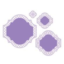 Spellbinders und Rayher Troquelado y estampado en relieve plantilla: marco decorativo