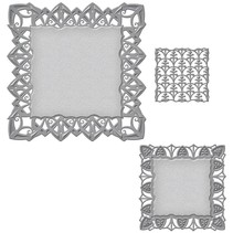 Punching and embossing template: decorative frame rectangle