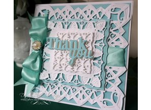 Spellbinders und Rayher Punching and embossing template: decorative frame rectangle