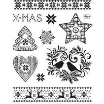 sellos transparentes: Tema de la Navidad