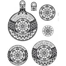 Stempel / Stamp: Transparent timbro trasparente: 3D Christmas Ball
