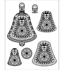 Stempel / Stamp: Transparent timbro trasparente: campana 3D palla di Natale