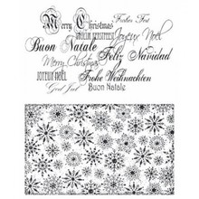 Stempel / Stamp: Transparent I timbri trasparenti: Natale sfondo, font e il Schneeflocken