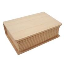 Holzdose i bokform