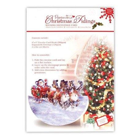BASTELSETS / CRAFT KITS: Bastelset, Karte mit Weihnachtsschlitten
