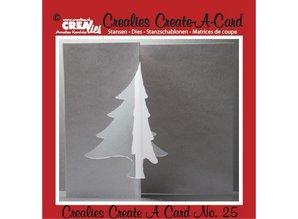 Crealies und CraftEmotions Stansning og prægning skabelon :. Card nr 25 slag
