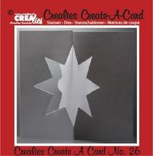 Crealies und CraftEmotions Stansning og prægning skabelon :. Card nr 26 slag
