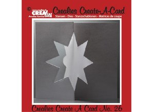 Crealies und CraftEmotions Punching and embossing template:. Card no 26 punch
