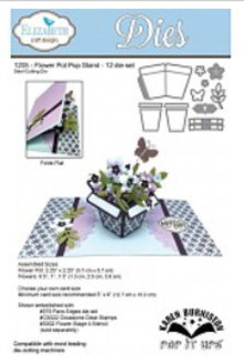 Elisabeth Craft Dies Stempling og prægning stencil: Flower Pot Pop Stand Wafer Thin Metal The
