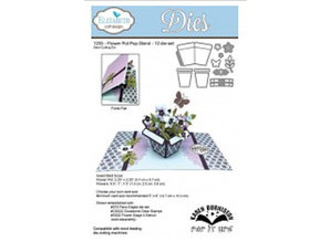 Elisabeth Craft Dies Stamping and embossing stencil: Flower Pot Pop Stand Wafer Thin Metal The