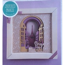 plantillas de punzonado y estampado en relieve: La caja de recuerdos, la calle de París