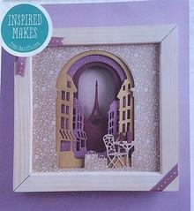 Docrafts / Papermania / Urban Stansning og prægning skabeloner: The Shadow Box, Paris Street