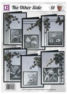 BASTELSETS / CRAFT KITS: Card kit, for 6 Condolence cards