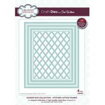 Punching and embossing template: Stitched Lattice Frames