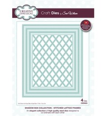 Creative Expressions Punching and embossing template: Stitched Lattice Frames