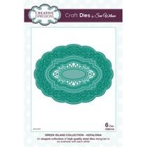 Stempelen en embossing stencil: oval sierlijst