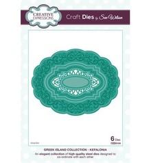 Creative Expressions Stempling og prægning stencil: oval dekorativ ramme