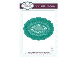 Creative Expressions Stampaggio e goffratura stencil: ovale cornice decorativa