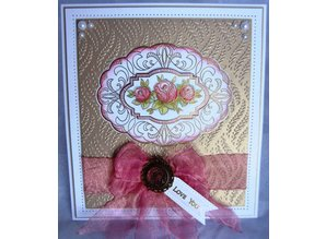 Creative Expressions Stamping and embossing stencil: oval decorative frame