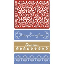 Prægning mapper, Holiday Damask, Vintage Border