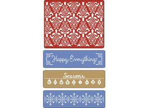 embossing Präge Folder Prægning mapper, Holiday Damask, Vintage Border