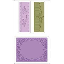 Prægning mapper: Oval Lace Set