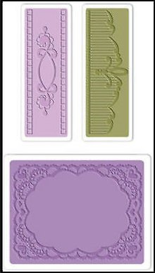 embossing Präge Folder Prægning mapper: Oval Lace Set