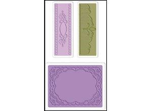 embossing Präge Folder Embossing folders: Oval Lace Set