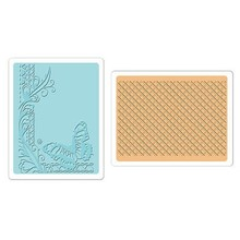 embossing Präge Folder Goffratura cartelle: Farfalla Lattice Set