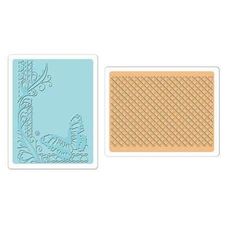 embossing Präge Folder Gofrado carpetas: Mariposa del enrejado Conjunto