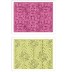 embossing Präge Folder Embossing folders: Psychedelic Dreams / Wistful Flowers