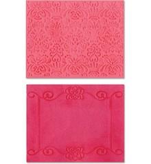 embossing Präge Folder Prægning mapper: Scroll Ramme / Succulent Set