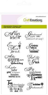 "Stempel / Stamp: Transparent Transparent stamp: Text German ""greeting"""