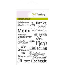 "Transparent stempel: Tekst tysk ""bryllup"""