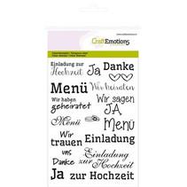 """Transparent Stempel: Text Deutsch """"Hochzeit"""""""