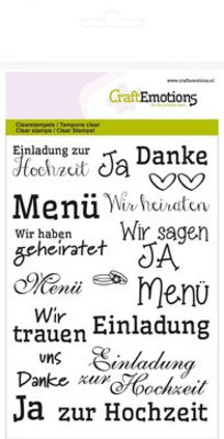 "Stempel / Stamp: Transparent Transparent stamp: Text German ""wedding"""