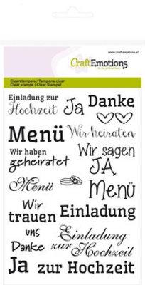 """Stempel / Stamp: Transparent Transparent stempel: Tekst tysk """"bryllup"""""""