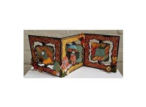 Dutch DooBaDoo A4 template of Dutch Card Art, Harmonica