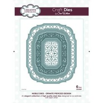 Punching and embossing template: decorative frame Oval