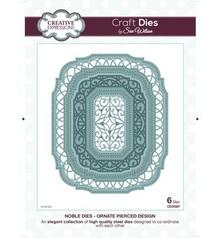 Creative Expressions Troquelado y estampado en relieve plantilla: Marco oval decorativo