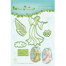 Ponsen en embossing sjabloon: Fairy / Angel
