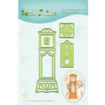 Ponsen en embossing sjabloon: Staand horloge