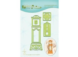 Leane Creatief - Lea'bilities Punching and embossing template: Grandfather Clock