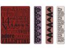 embossing Präge Folder Embossing folders: Valentine Background & Borders Set