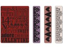embossing Präge Folder Prægning mapper: Valentine Baggrund & Borders Set