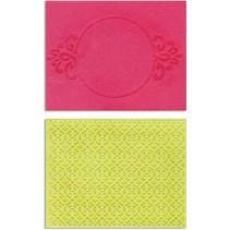 Embossing folders: Circle Frame & Spark Lina Set