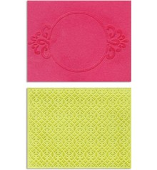 embossing Präge Folder Goffratura cartelle: Circle Frame & Spark Lina Set